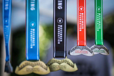 MoRunner Medal supporting Movember Foundation