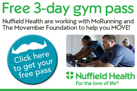 Nuffield MoRunning 3 Day Gym Pass